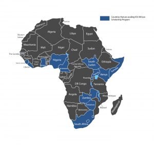 Countries in Africa in the IOU Scholarship Program